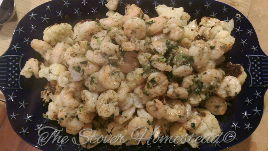 blue apron garlic herb shrimp